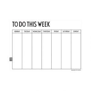 Design Letters Weekly Planner Vihko