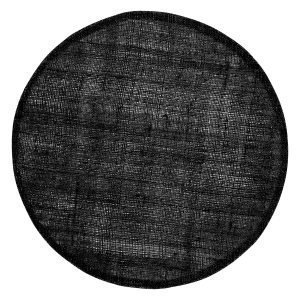 Dixie Linen Pyöreä Pöytätabletti Black 38 Cm