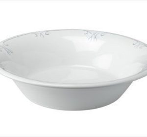 Dorre Lautanen syvä valkoinen harmaa koristekuvio