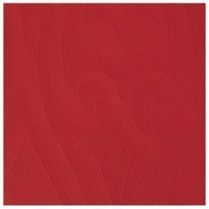 Duni Elegance Lily Napkins Lautasliina 10-Pakkaus Joulunpunainen 40x40 Cm