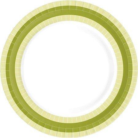 Duni Paperilautanen 22 cm BBQ Green Line 10-pack