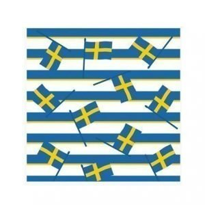 Duni Servetit 33x33 cm Ruotsin lippu 20 kpl
