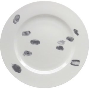 Elli Popp Fingerprint Lautanen Tummanharmaa
