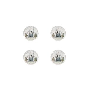 Elsa Beskow Collection Lasinalunen Kuningas Talvi 4 Kpl