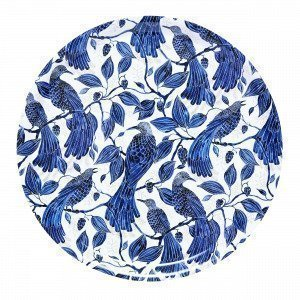 Emma Von Brömssen Paradis Tray Tarjotin Sininen 38x38 Cm