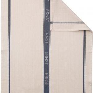 Ernst Keittiöpyyhe Raidallinen Tummanharmaa 50x70 Cm