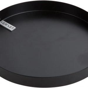 Ernst Kynttiläalusta Pyöreä Musta 18 Cm