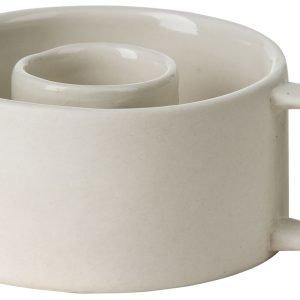 Ernst Kynttilänjalka Keramiikka Valkoinen 3.5 Cm