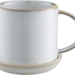 Ernst Muki Ja Lautanen Keraaminen Valkoinen 7 Cm