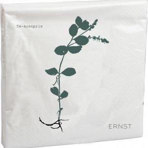 Ernst Puolukka Servetit Paperi Valkoinen 33x33 Cm