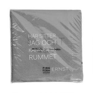 Ernst Servetti Kahdella Sitaatilla Rummet / Tid 20 St Dia Harmaa 33 Cm