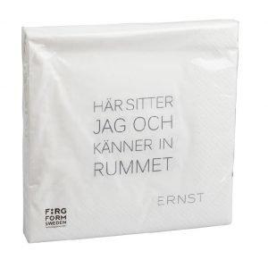 Ernst Servetti Rummet / Tid Valkoinen 33 Cm 20 Kpl