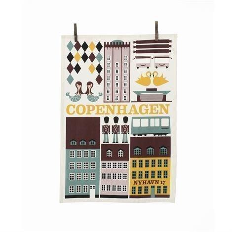 Ferm Living Copenhagen Keittiöpyyhe Monivärinen