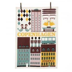 Ferm Living Copenhagen Keittiöpyyhe Multi 50x70 Cm