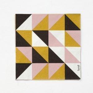 Ferm Living Remix Paperiservetti Musta 20 Kpl