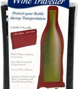 Final Touch Wine Traveller Black- Kuljetuskassi pullolle