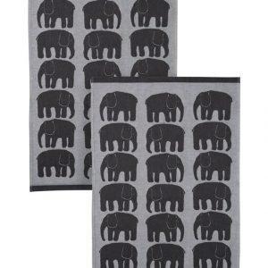 Finlayson Elefantti Keittiöpyyhe 50 X 70 cm 2 Kpl