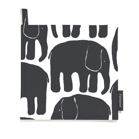 Finlayson Elefantti Patalappu 2 kpl Musta-Valkoinen