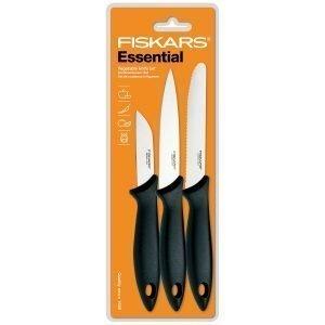 Fiskars Essential Vihannesveitsi Setti 3-Osainen