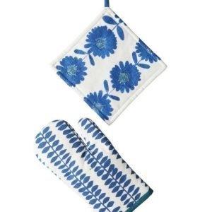 Flower Patch Patalappusetti 2 Osaa Sininen
