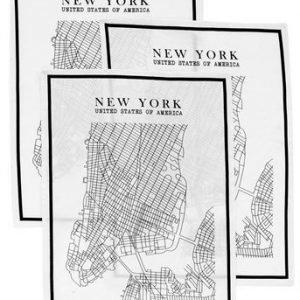 Fondaco Keittiöpyyhe New York 3-Pakkaus Musta Valkoinen