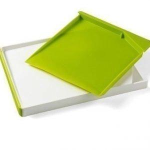 Funktion Leikkuulauta laatikolla Valkoinen/Lime