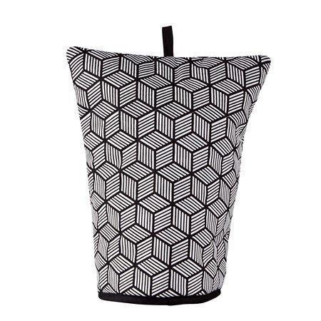 Galzone Huppu kahvipannulle Polyesteri/Puuvilla Musta/Valkoinen 30x24 cm