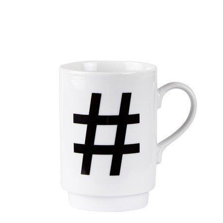Galzone Muki Porsliini Hashtag 10 cm