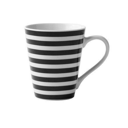 Galzone Muki raidallinen Porsliini musta/valkoinen 30 cl