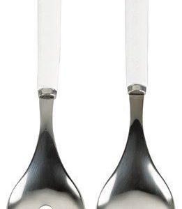 Galzone Salaattiottimet 2 osaa Metall Valkoinen 25 cm