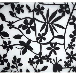 Galzone Tabletti Kukkia Musta Läpinäkyvä 44x28