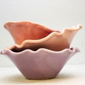 Gerbera Provence Skål Rosa 33x10