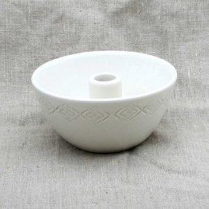 Gerbera Skål med ljushållare Bomull 16x7 cm