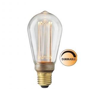 Globen Lighting Led Laser L212 Lamppu Edison Himmennettävä 3.5 W E27 Kirkas