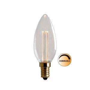 Globen Lighting Led Laser L214 Lamppu Kruunu Himmennettävä 2.3 W E14 Kirkas