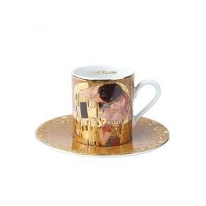 Goebel Espressokuppi Lautasella Klimt 7 Cm