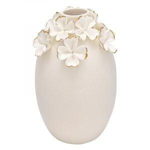 Greengate Flower Vaasi Valkoinen