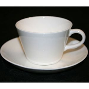 Gustavsberg Bas Valkoinen Kahvikuppi Ja Lautanen