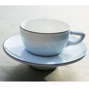 Gustavsberg Natur Espressokuppi Ja Lautanen Laventelinsininen