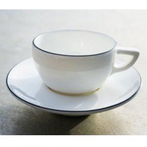 Gustavsberg Natur Espressokuppi Ja Lautanen Lumi