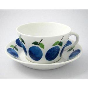 Gustavsberg Prunus Teekuppi Ja Lautanen