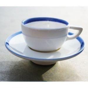 Gustavsberg Sommar Espressokuppi Ja Lautanen Meri