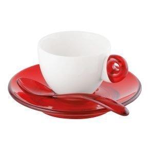 Guzzini Espressosetti Punainen 2 Kpl
