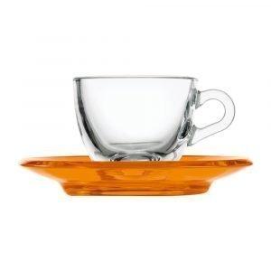 Guzzini Gocce Espressokuppi Oranssi 9 Cl