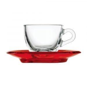 Guzzini Gocce Espressokuppi Punainen 9 Cl