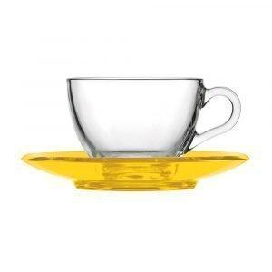 Guzzini Gocce Teekuppi Keltainen 23