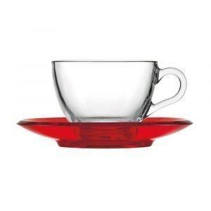 Guzzini Gocce Teekuppi Punainen 23