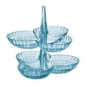 Guzzini Tiffany Lautanen Sininen 2-Pakkaus