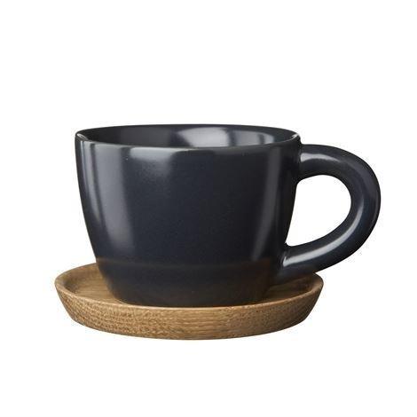 Höganäs Espressomuki Ja Aluslautanen 10 cl Grafiitinharmaa Matta