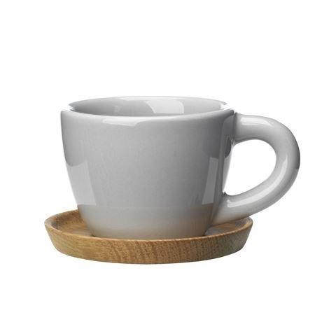 Höganäs Espressomuki Ja Aluslautanen 10 cl Vaaleanharmaa Kiiltävä
